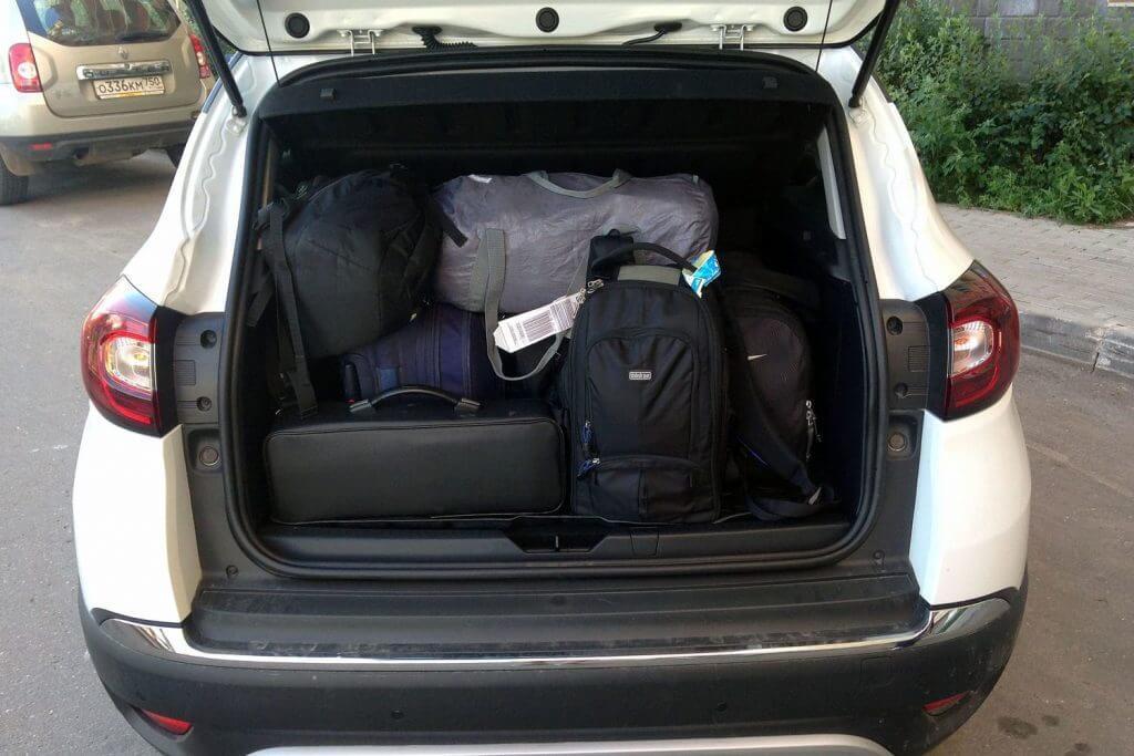 объем багажника рено каптур