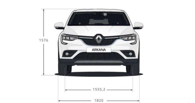 Габаритные размеры Рено Аркана: салон, багажник, кузов
